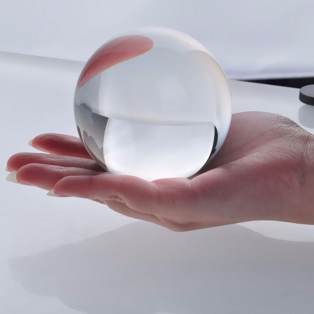 Livraison gratuite 80mm Rare clair Quartz asiatique feng shui balle cristal verre boule sphère mode Table décor bonne chance balle