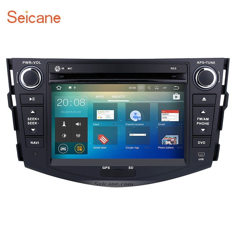 Android 7.1 7 inch GPS Navigation Bluetooth Car Radio Head Unit DVD Player for 2006-2012 TOYOTA RAV4 SD WIFI Support OBD2 TPMS