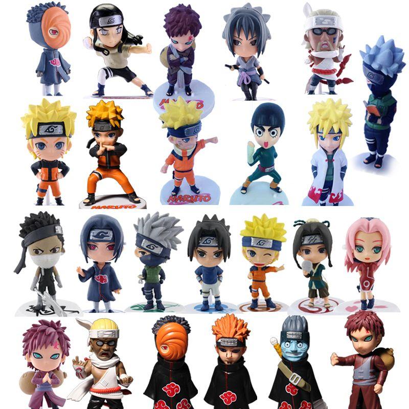 1pc/lot Naruto Figures 24 Styles Anime Itachi/Sasuke/Pein/Neji/Gaara Action Figure Toys PVC Collections 12cm