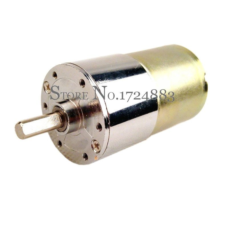ZGA37RG dc 12V gear motor rpm 2/5/10/15/20/30/50/60/80/100/120/150/200/300/500/1000RPM  speed 37MM Central shaft High Torque