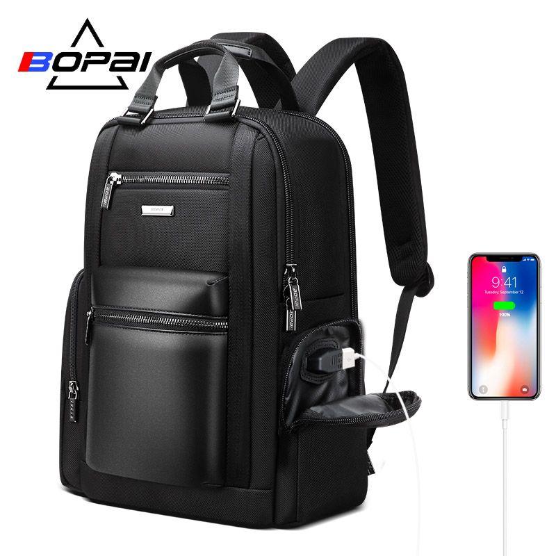 BOPAI Neue Laptop Zurück Pack Taschen Männer Multifunktionale Business Reise Rucksack Männer 90 Grad Kostenloser Offenen 15,6 Inch Computer Rucksack