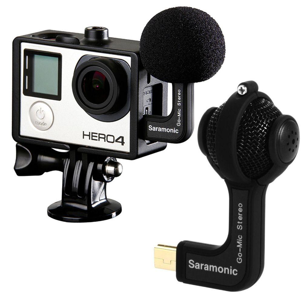 Saramonic GoMic Professionnel Mini Double X/Y Balle Stéréo Microphone À Condensateur pour GoPro HERO3, HERO3 +, HERO4 Action Caméras