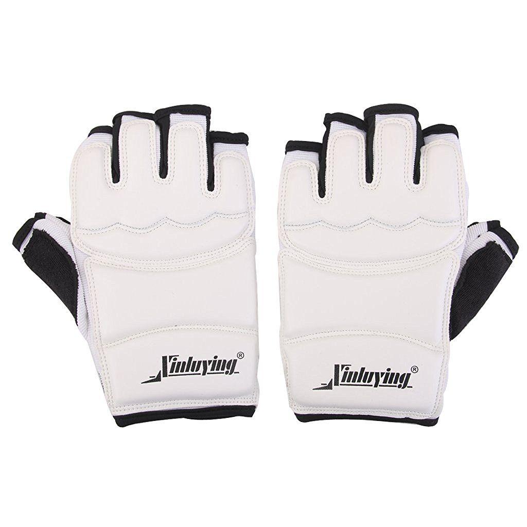 Новая распродажа xinluying 1 пара Прихватки для мангала варежки защита рук eva площадку для тхэквондо каратэ спарринг Бокс (белый)