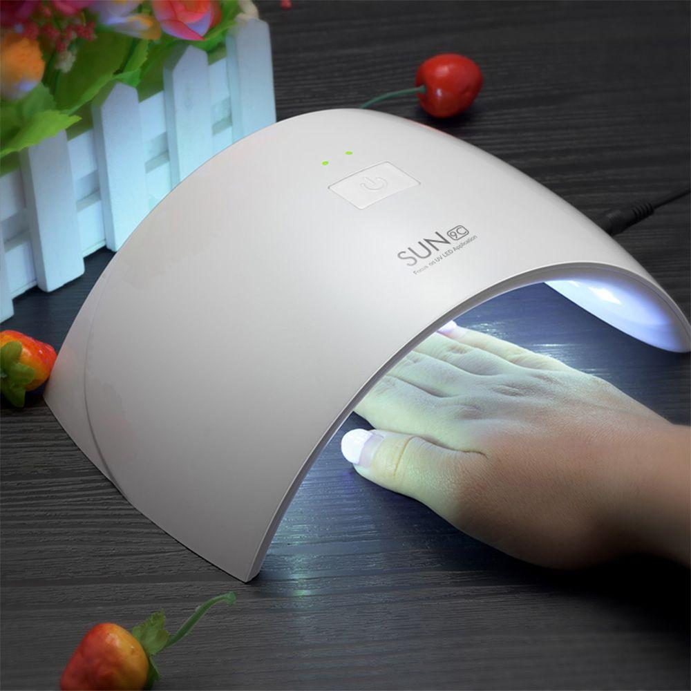 Lámpara Del Clavo 24 W Lámpara ULTRAVIOLETA Del Clavo Del Polaco del Gel UVLED Máquina SUN9C SUN9X Manicura Secador de Barniz
