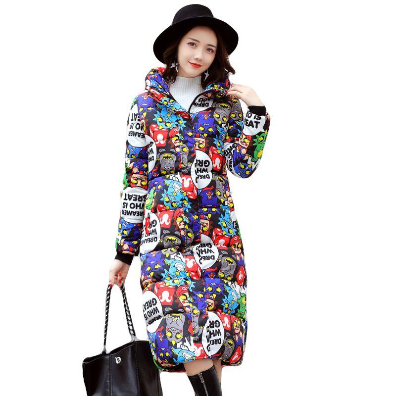 High Quality 2017 Winter Women Jackets Long Winter Jacket Women Warm Down Cotton Coat Female Thickening Warm Parka Hooded CM1396