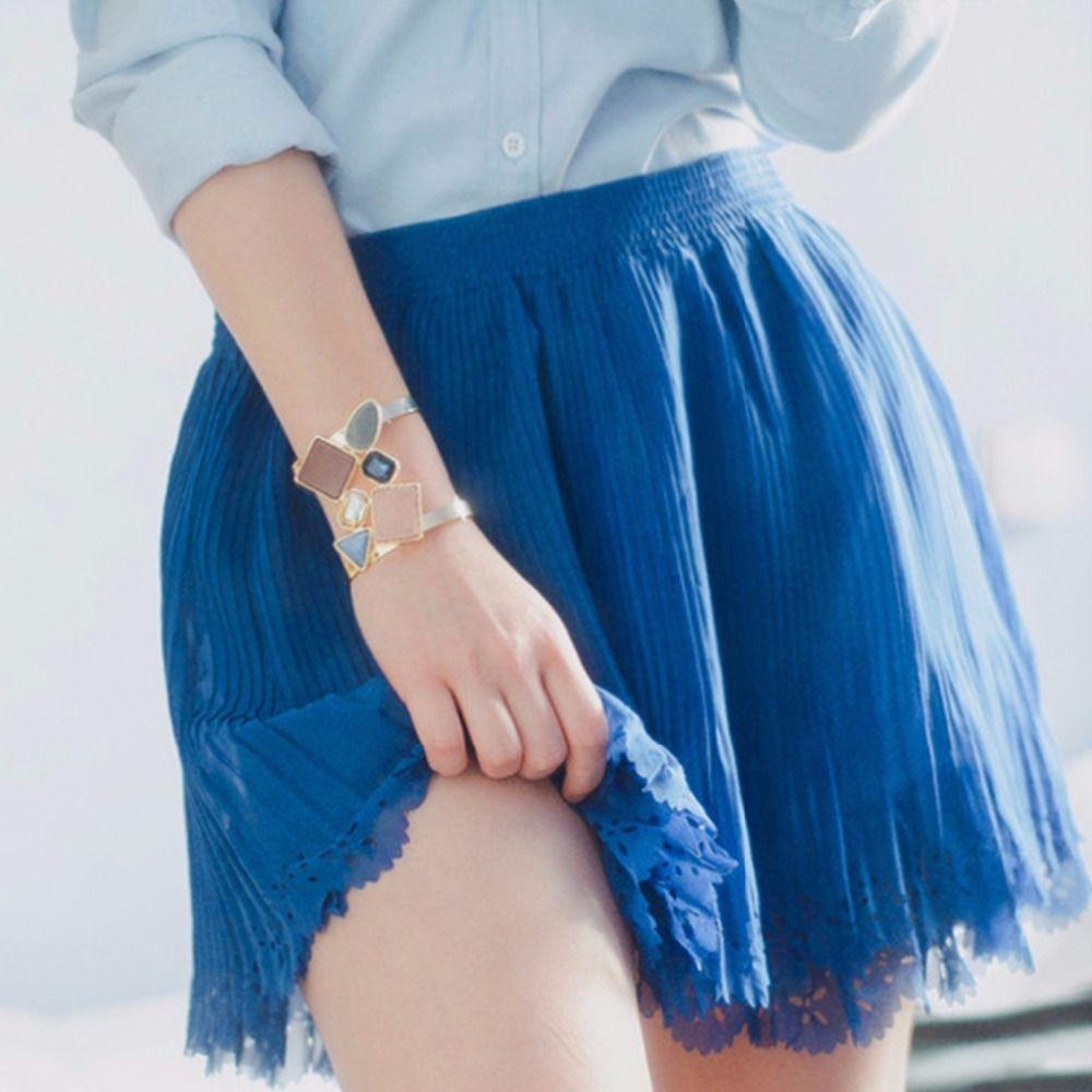 EManco Large Manchette Bracelet pour femmes avec Cristaux Créé et Pierres Cuivre Bracelets et Bracelets bijoux pour femme