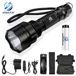 LED Flashlight T6/L2 Torch 8000Lumens for Riding Camping Hiking Hunting & Indoor Activities with 18650 battery+charger