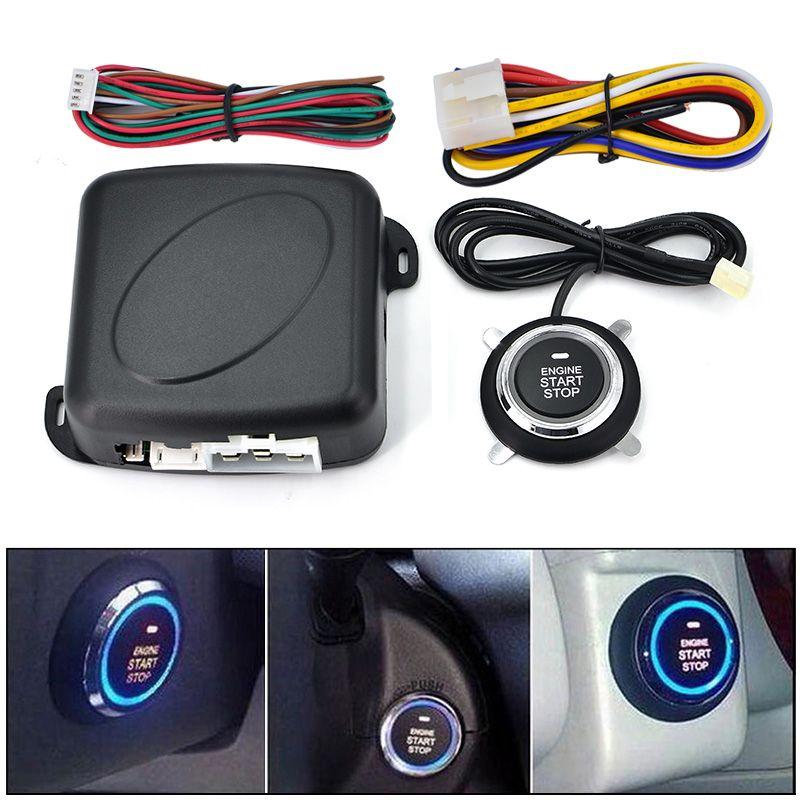 Auto car START STOP Engine system push button keyless entry system with start stop button car alarm remote engine start button