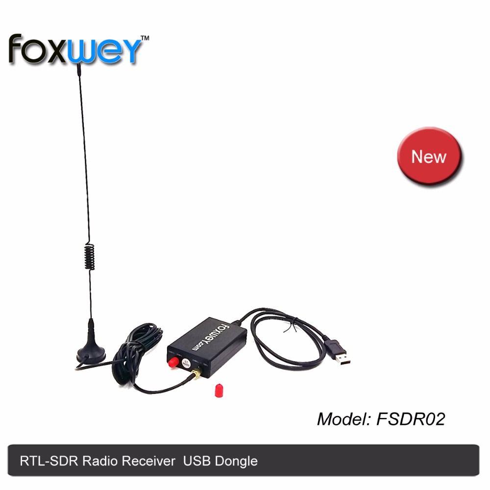 Best RTL SDR receiver with Chip Realtek RTL2832U Rafael micro R820T2 for RTL SDRsharp,free RTL2832U SDR Windows Software FOXWEY
