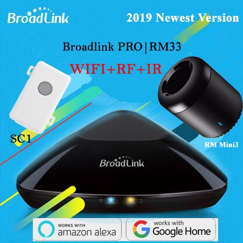 Broadlink RM PRO 2019 RM Mini3 SC1 Smart Domotique WiFi + IR + RF Commutateur Maison Intelligente Universelle Intelligente télécommande