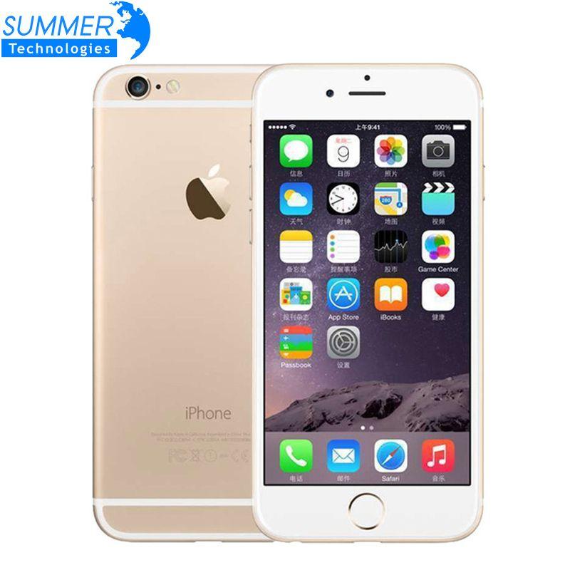 Original Unlocked Apple iPhone 6 Dual Core 1GB RAM 4.7 inch IOS Phone 8.0 MP Camera 3G WCDMA 4G LTE 16/64/128GB ROM Smartphone