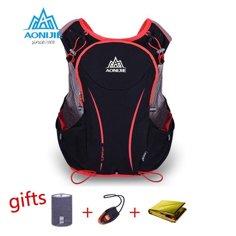 AONIJIE 5L Laufen Rucksack Wasserkocher Paket Marathon Radfahren Taschen Laufen Weste Wasserkocher Sporttasche Wasserdichte Nylontasche