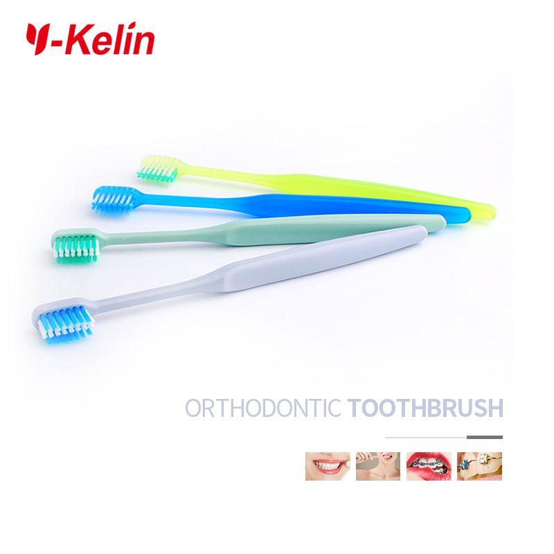 2017 Nouvelle Arrivée Y-kelin U en forme de Orthodontique Brosse À Dents À Poils Doux Brace Brosse À Dents pour adultes et enfants dents avec brace