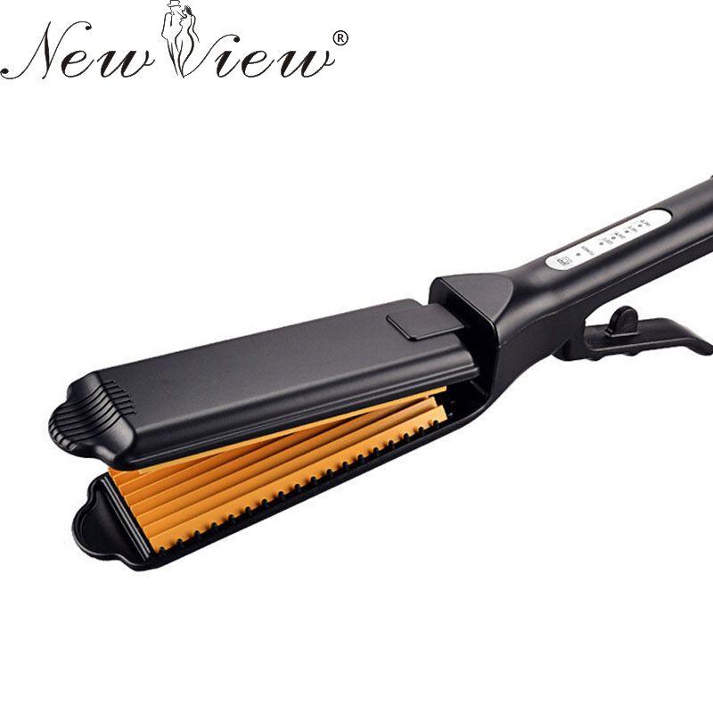 Newview chapinha plancha de pelo profesional plancha de cerámica enderezar corrugado curling rizador de herramientas de peinado