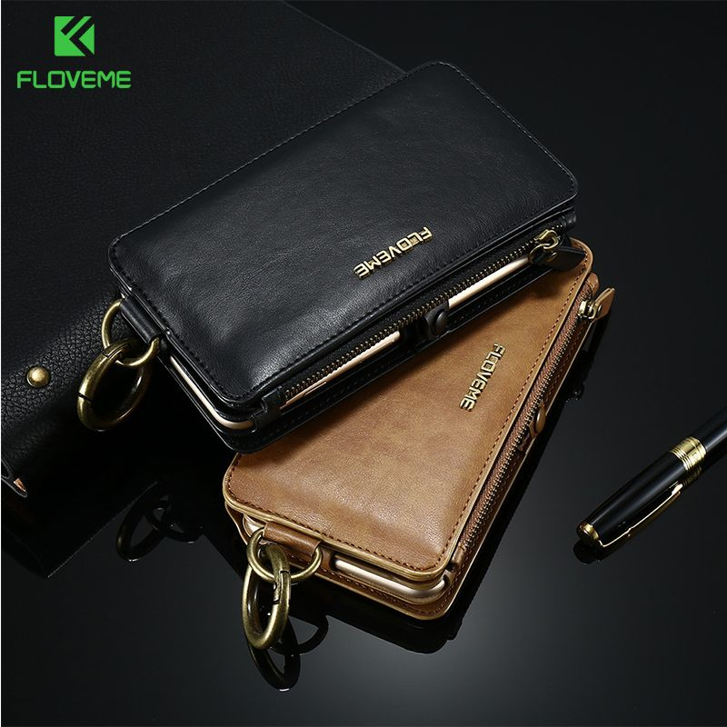 FLOVEME Retro Leather Wallet Case For Samsung Galaxy S9 S8plus Cover Card Phone Bags Cases For Samsung S6 S7 <font><b>Edge</b></font> Note 8 7 5 4 3