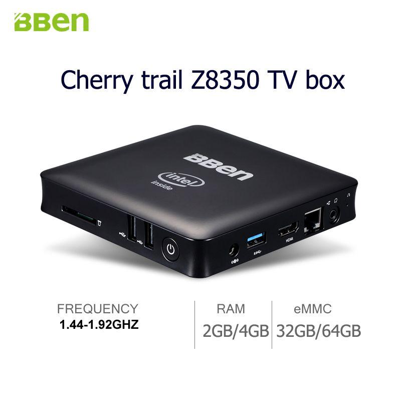 Bben desktop MINI PC Quad Core TV Box intel Z8350 Windows 10  RAM 2GB/4GB 32GB/64GB Intel Compute TV Stick with LAN Headset port