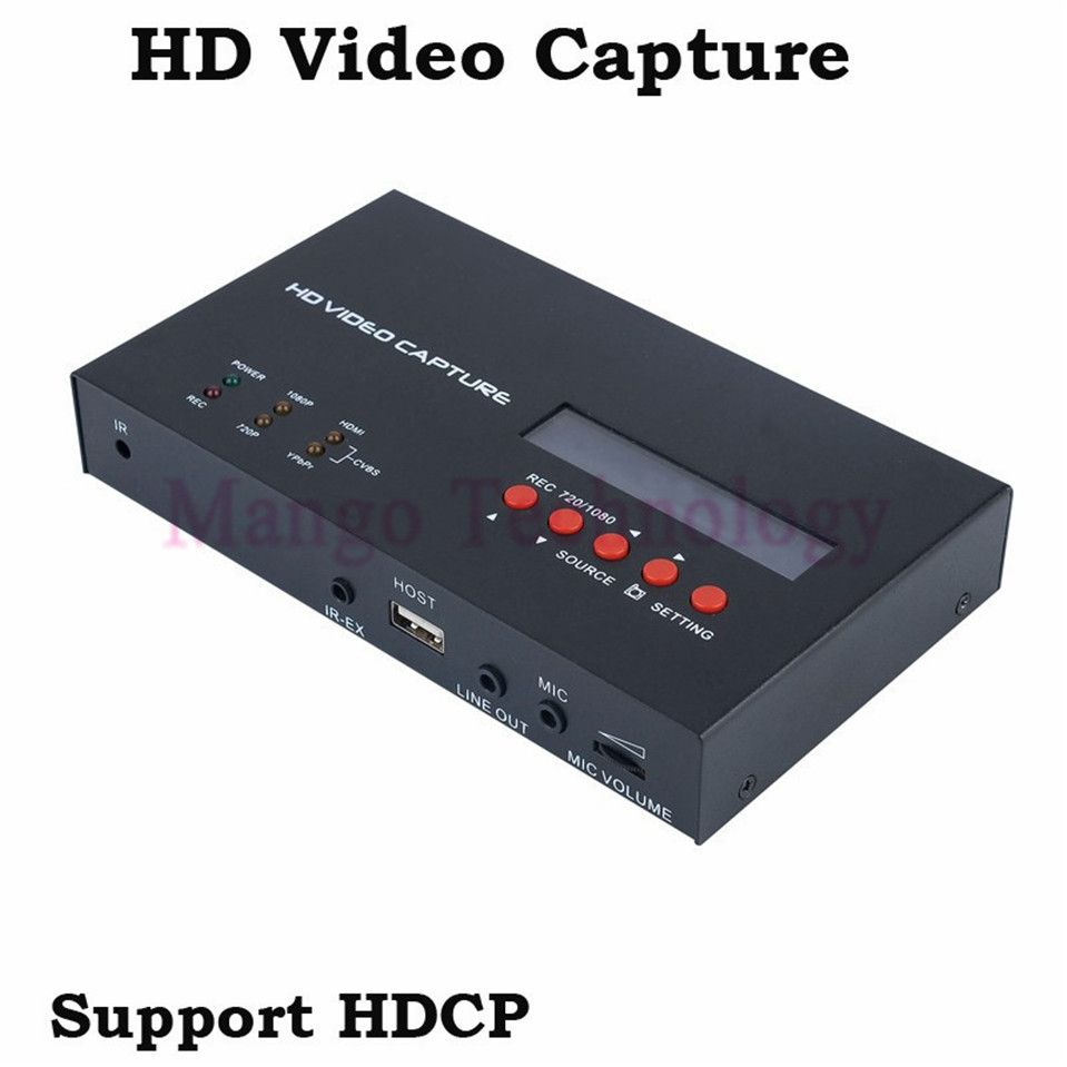 2018 eZcap283 YPbPr Recorder Box With Scheduled Recording 1080P HDMI Game Capture for XBOX One/360 PS3 HD Video Capture