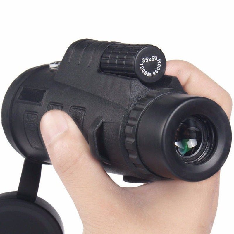 High Quality 35x50 Teleskop Monoculars Power Binoculars Optical <font><b>Telescope</b></font> Monoculo Spyglass Monocle Hunting Travel Camp