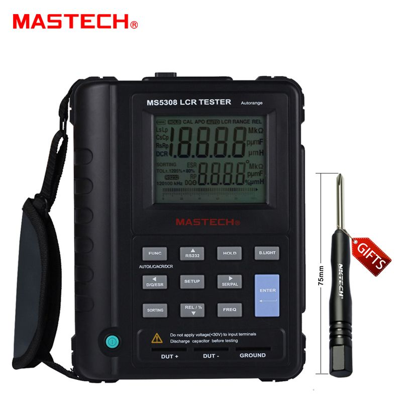 Mastech MS5308 LCR Meter Portable Handheld Auto Range LCR Meter High-Performance 100Khz