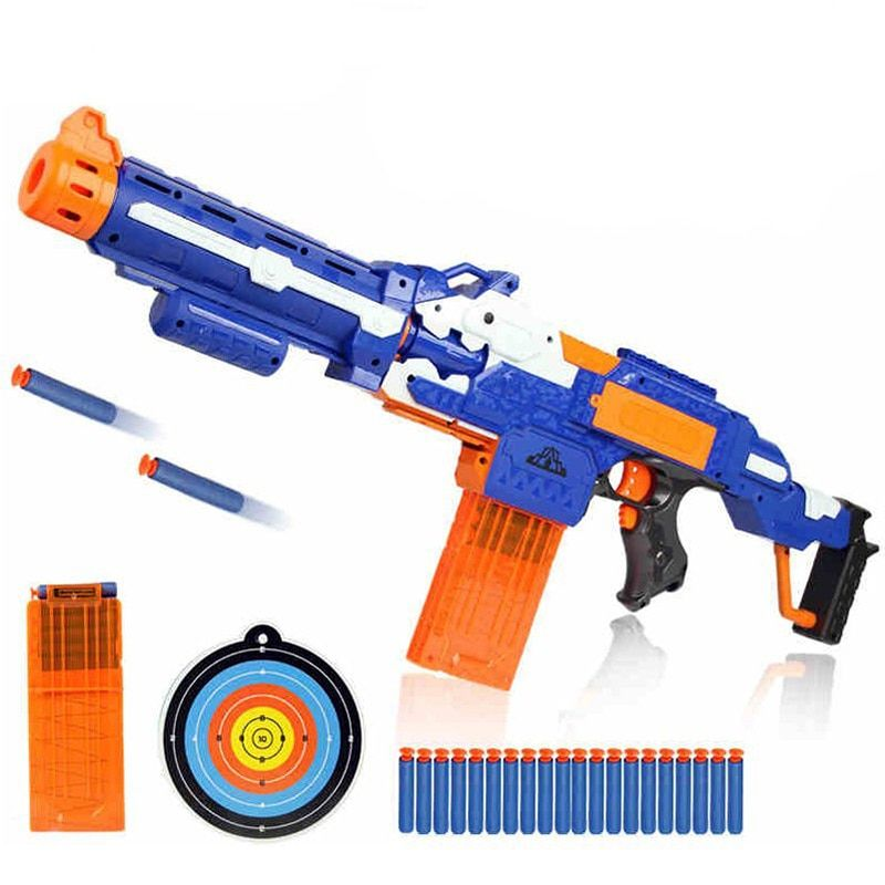 Electrical Soft Bullet Toy Gun Pistol Sniper Rifle Plastic Gun Arme Arma Toy For Children Gift <font><b>Perfect</b></font> Suitable for Nerf Toy Gun