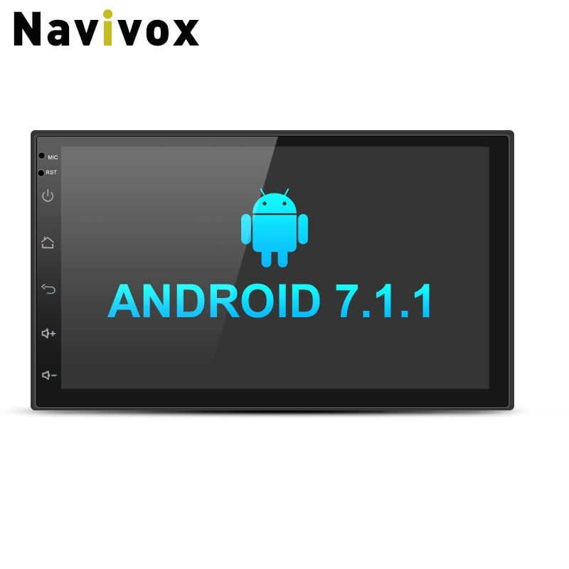Navivox 7'' Car Multimedia Player 2 din Android 7.1.1 Quad Core Universal GPS Radio GPS Stereo Audio Player for nissan no dvd