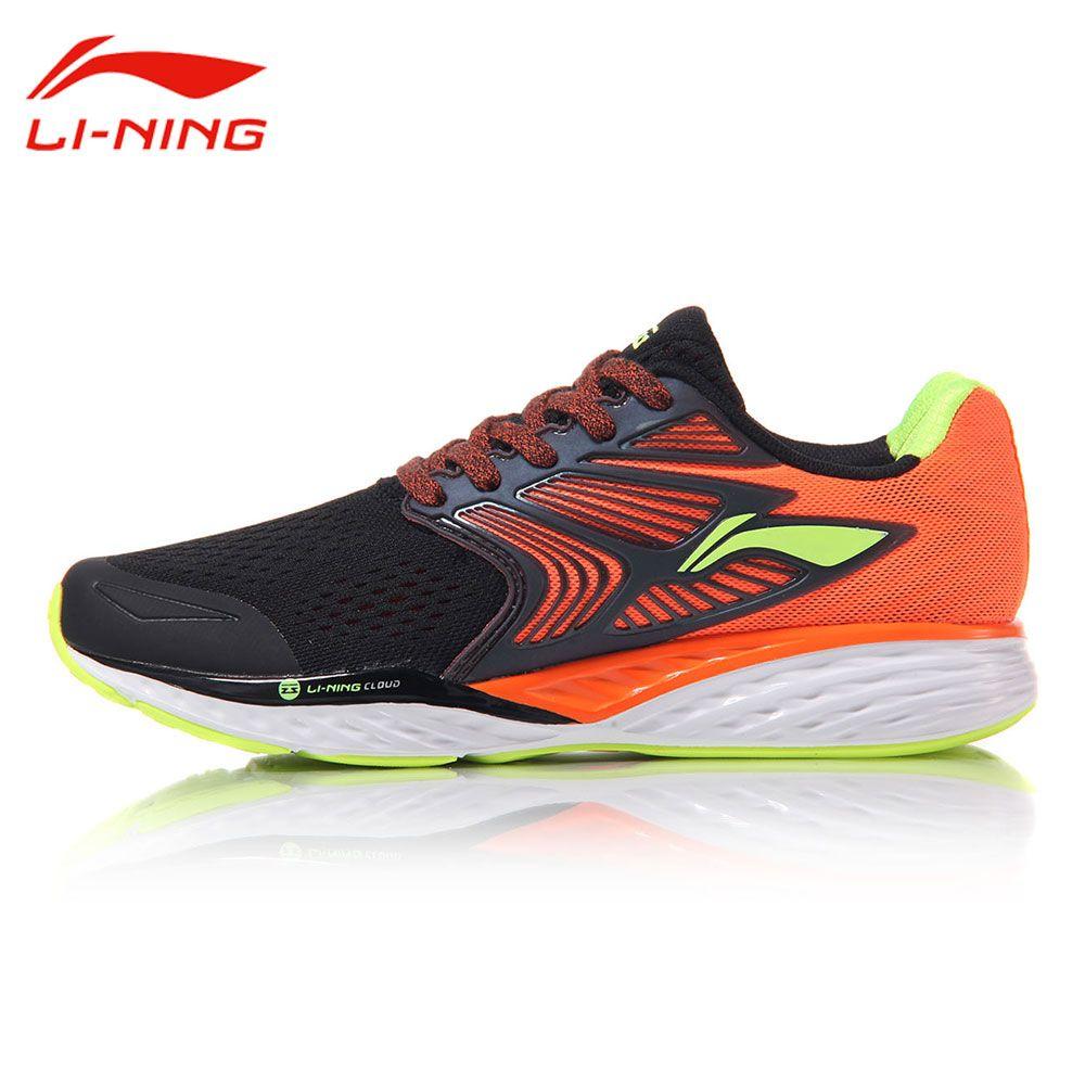 Li-Ning Men's Cloud IV Cushioning Running Shoes LiNing Professional MONO YARN Light Sneakers LI NING Stable Sports Shoes ARHM019