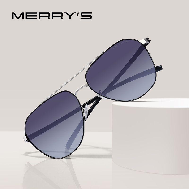 MERRYS DESIGN hommes classique lunettes de soleil pilote Aviation cadre HD lunettes de soleil polarisées pour la conduite TR90 jambes UV400 Protection S8057