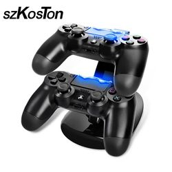 Dual USB Gamepad Charging Dock for PS4 Double Game Handle Dual Charge Station Plug for Sony Play Station PS4 Charger Controller