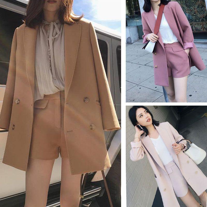 spring/autumn/summer women's new fashion OL temperament suit jacket+shorts 2pieces sets high quality/two piece set/AL501
