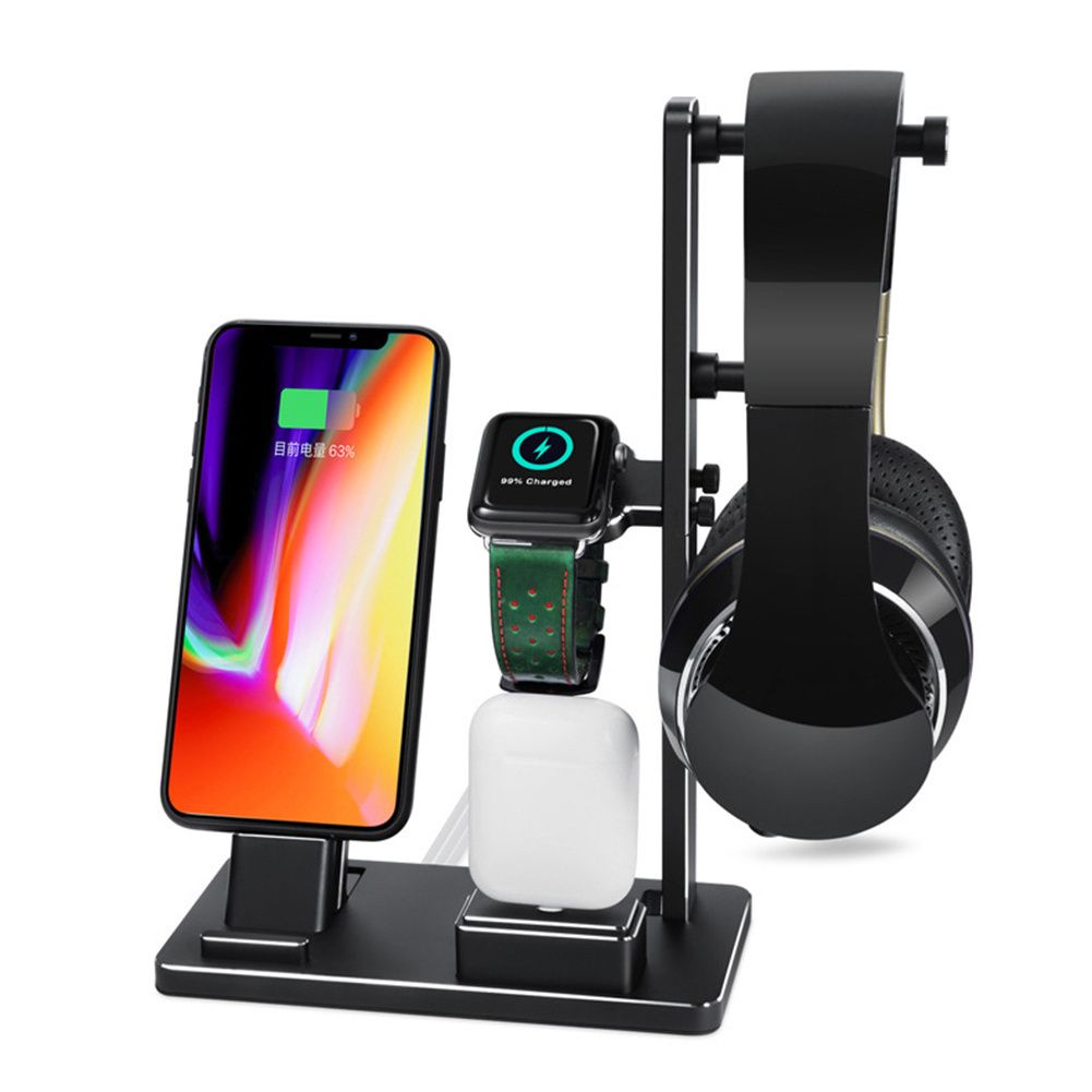 Aluminum Alloy Charger Dock Support Stand Holder For Apple Watch Earphones Mobile Phone Charging Holder for iPhone