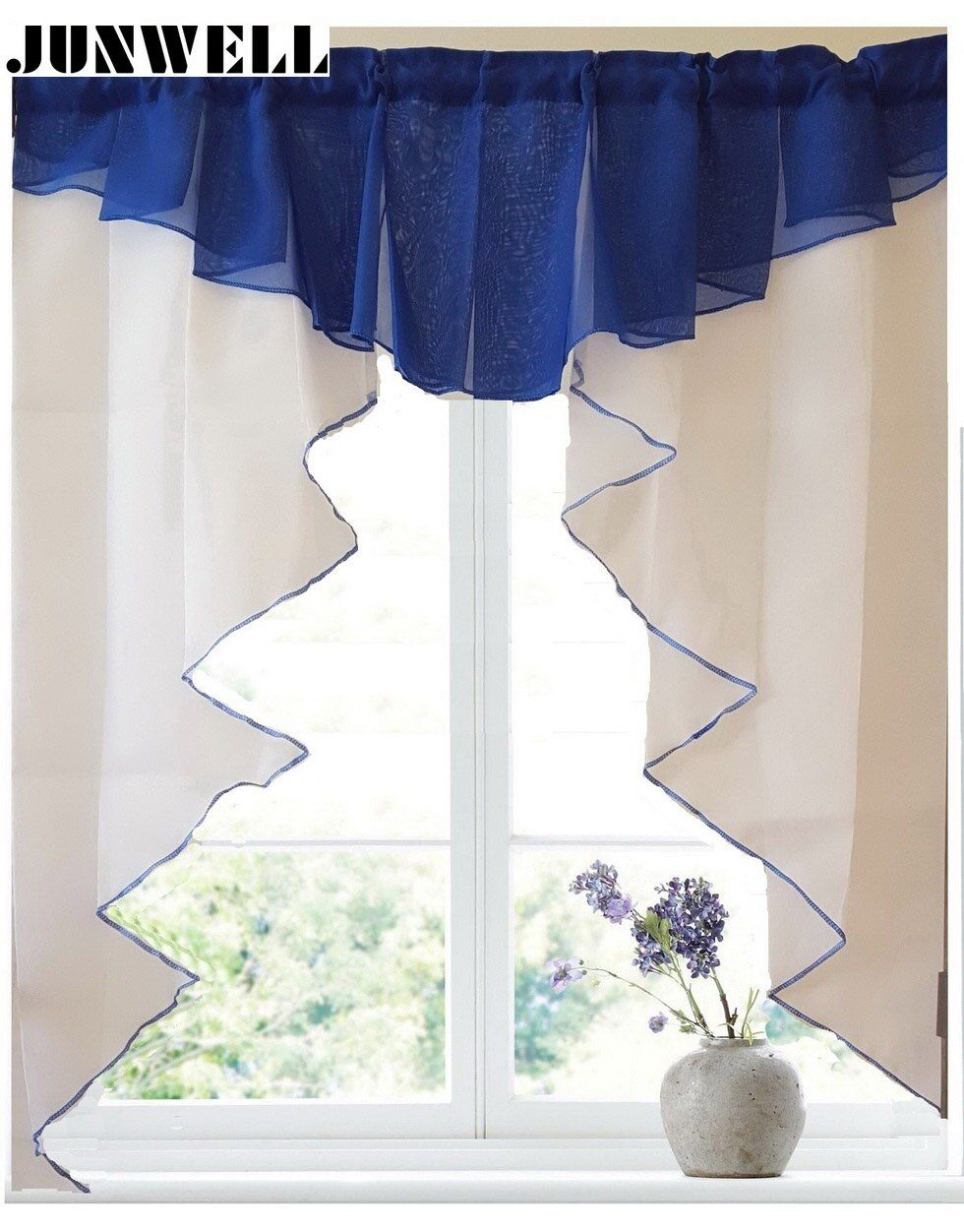 11 colors Fashion Pleated Roman Curtain Design Stitching Colors Tulle Balcony Kitchen Window Curtain Blind 1pc