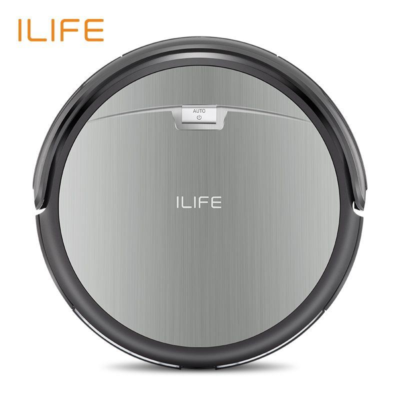 ILIFE A4s robot aspirateur Puissant Aspiration pour Mince Tapis et Sols Durs Grande Poubelle Miniroom Fonction Automatique Recharge
