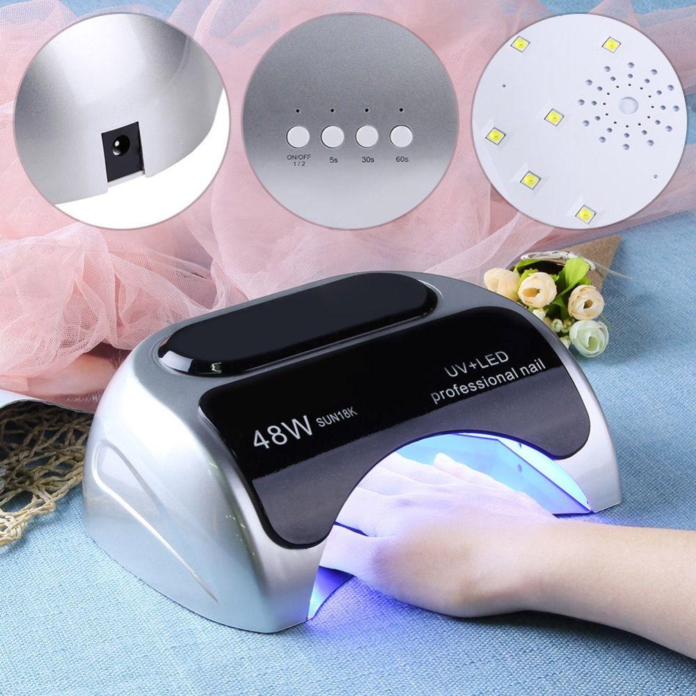 24W/48W Switchable Nail Dryer Polish UV LED Nail Lamp Nail Dryer Gel Polish Curing Light Nail Art Tools EU Plug