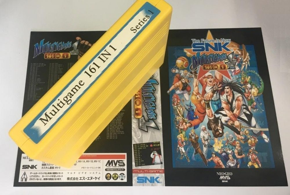 NEOGEO MVS 161 in 1 Game Cartridge for SNK Arcade Machince or AES Console with NEO MVS Adaptor