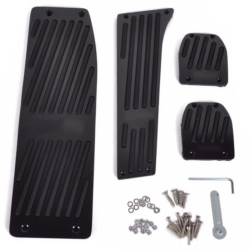1 Set Aluminum Black Fuel Brake Foot Rest Pedal Set For BMW E30 E36 E46 E87 E90 E91 E92 E93 M3 Car Accessories