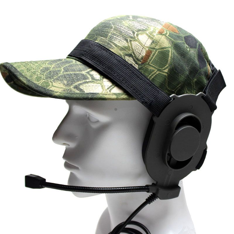 Element Bowman ELITE II Tactical Headset Airsoft Wargame Hunting Comms Gear Military Version Plug Microphone
