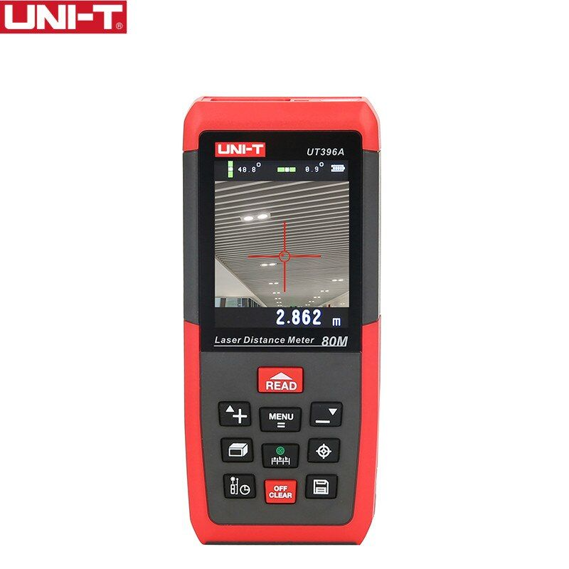 UNI-T UT396A Professionelle Laser Entfernungsmesser Lofting Test Nivelliergerät Bereich/Volumen Datenspeicherung Max 80 mt 2MP Kamera