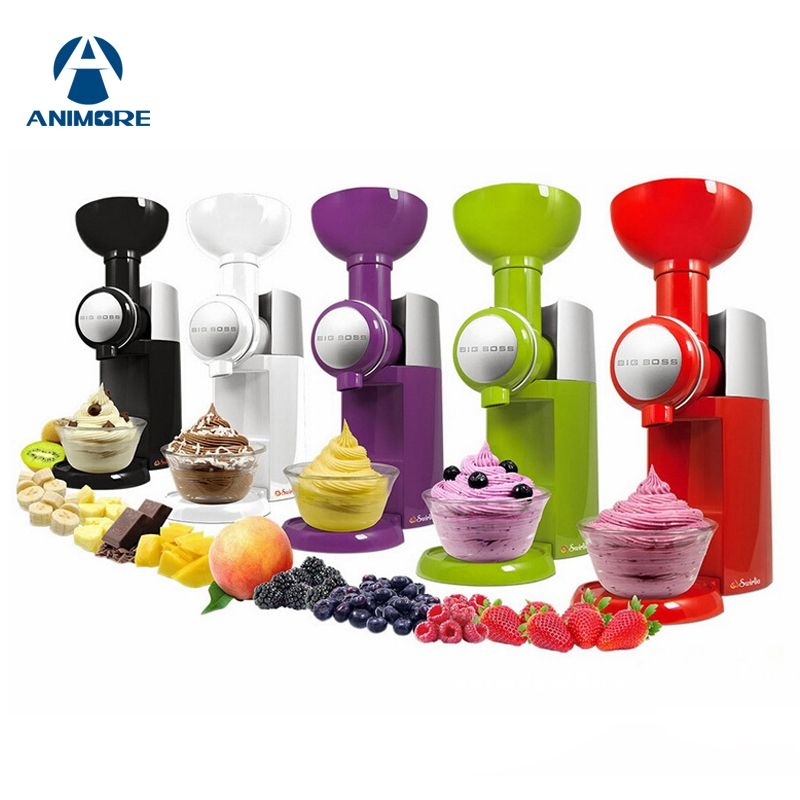 ANIMORE 220V /110V Automatic Frozen Fruit Dessert Machine Fruit Ice Cream Machine Big Ice Cream Maker Milkshake Machine IC-01