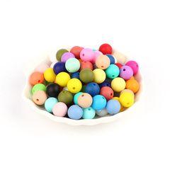 TYRY. HU 10 pièces Silicone Perles Rondes 9mm Bébé Dentition Mâché Perles Collier Sucette Chaîne Bracelet Fabrication de Bijoux SANS BPA