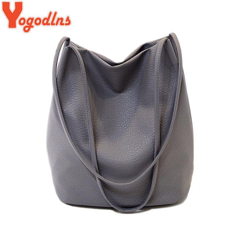 Yogodlns femmes sacs à main en cuir noir seau sacs à bandoulière dames sacs à bandoulière grande capacité dames sac à provisions Bolsa