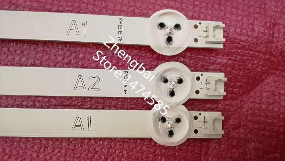 Original 3 pièces (2 * A1 * 7 LED, 1 * A2 * 8 LED) LED rétro-éclairage barre pour LG 32 6916L-1204A 6916L-1205A 6916L-1105A 6916L-1106A 6916L-1295A 1296A