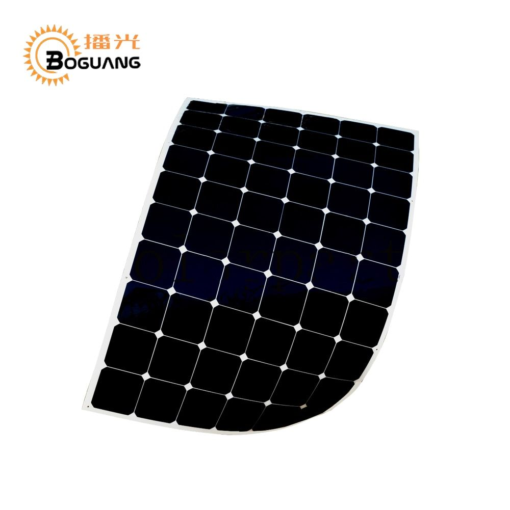 BOGUANG 180W semi-flexible contact solar panel with High efficiency solar cell the solar module charging the 24v battery
