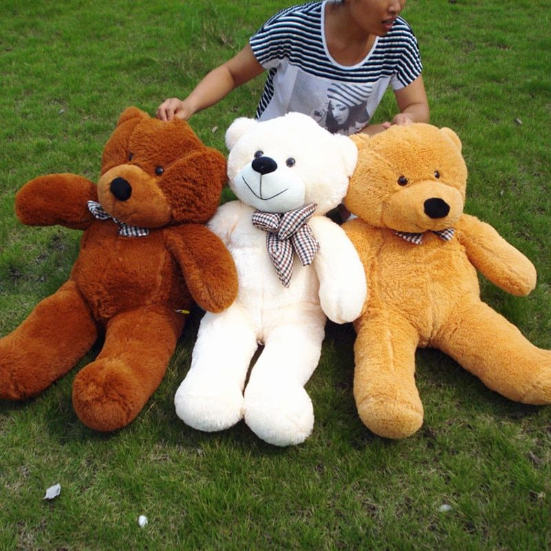 1pc 100cm Teddy Bear Plush Toys Soft Animal Bear Skin Teddy Coat <font><b>Birthday</b></font> Gift for Children Kids Valentine's Gift for Girls