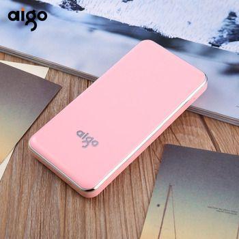 Aigo Мощность Bank 10000 мАч Портативный Зарядное устройство двойной Вход Порты Для Сяо mi Мощность банк быстрой зарядки для mi iphone 8 X SE samsung S8