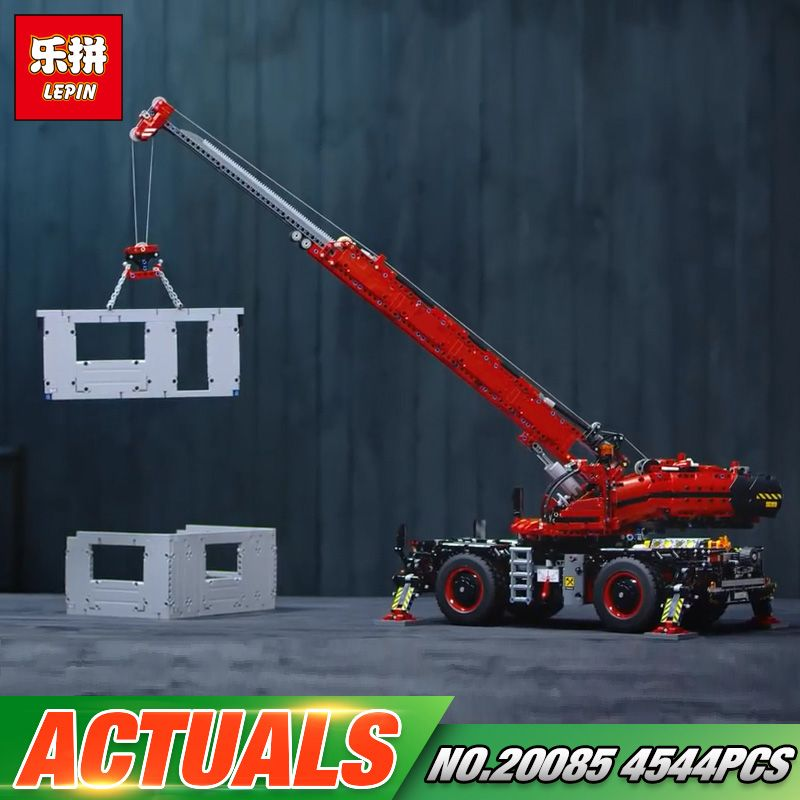 Lepin 20085 Technic Toys Car Model The 42082 Rough Terrain Crane Set Buidling Blocks Bricks Kids Toys Christmas Birthday Gifts