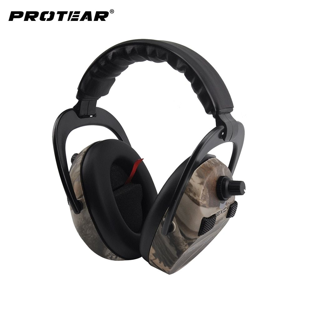Protear Electronic Ear Protection Shooting Hunting Ear Muff Print <font><b>Tactical</b></font> Headset Hearing Ear Protection Ear Muffs for Hunting