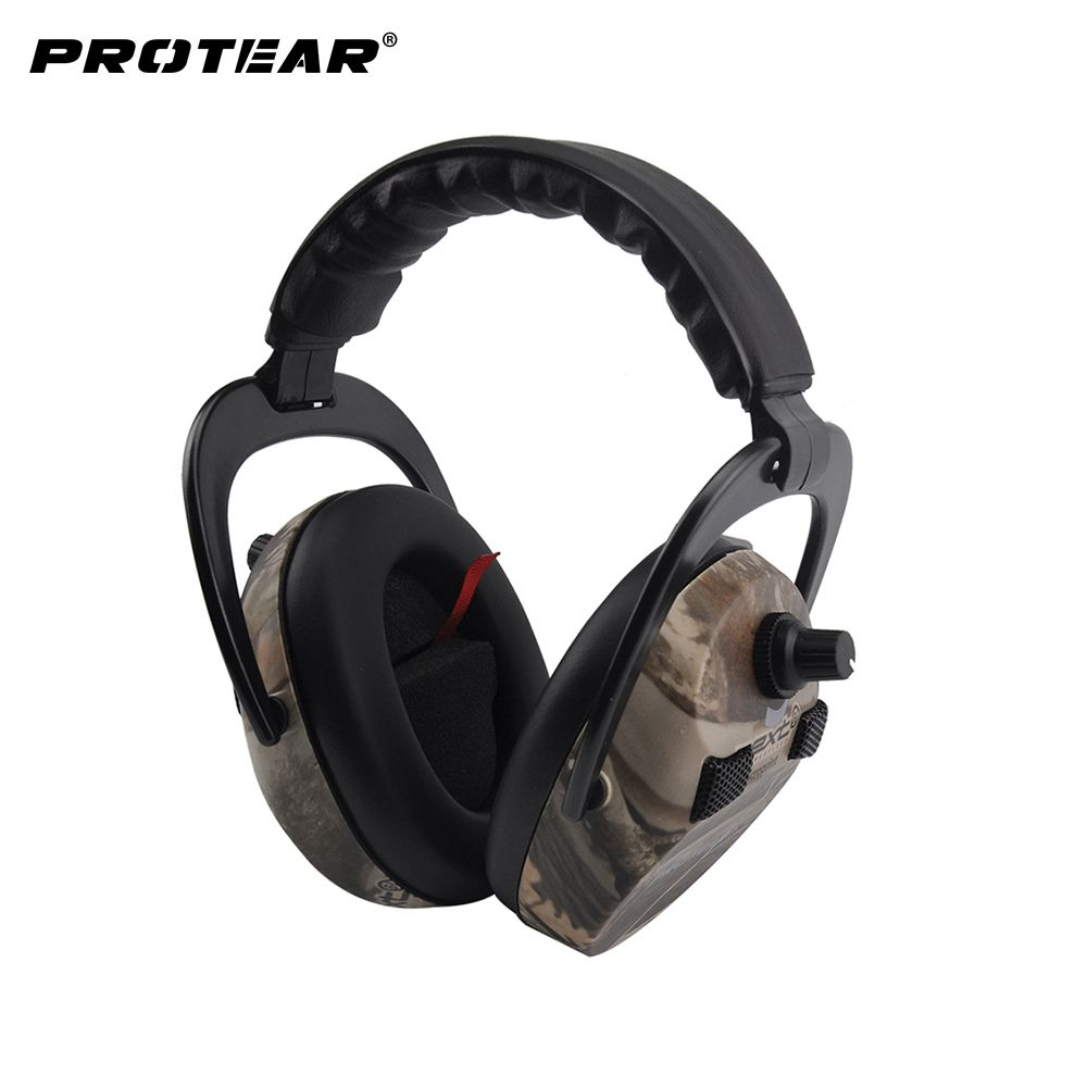 Protear Electronic Ear Protection <font><b>Shooting</b></font> Hunting Ear Muff Print Tactical Headset Hearing Ear Protection Ear Muffs for Hunting