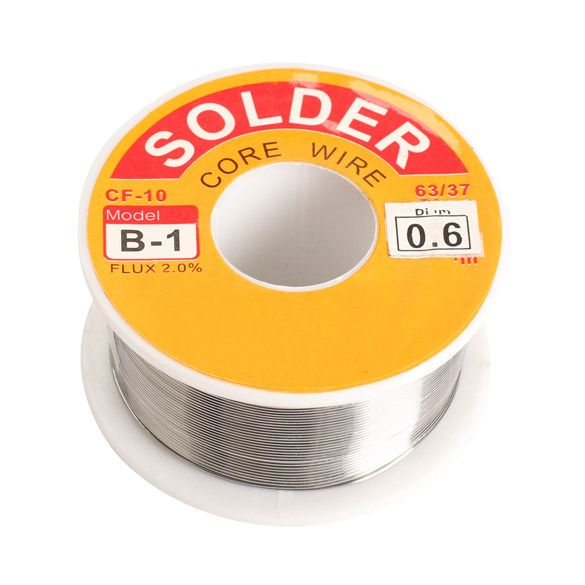 0.6/0.8/1/1.2/1.5/2mm 100g  63/37 FLUX 2.0% 45FT Tin Lead Tin Wire Melt Rosin Core Solder Soldering Wire Roll  --M25