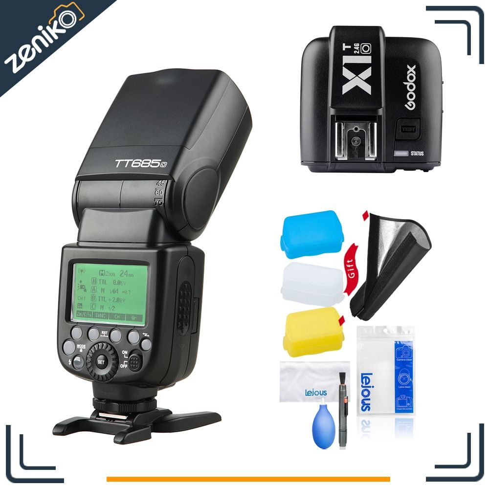 Godox Speedlite Strobe TT685O+X1TO for Olympus Panasonic Lumix Camera Flash TTL HSS GN60 High Speed 2.4G for E-M10II