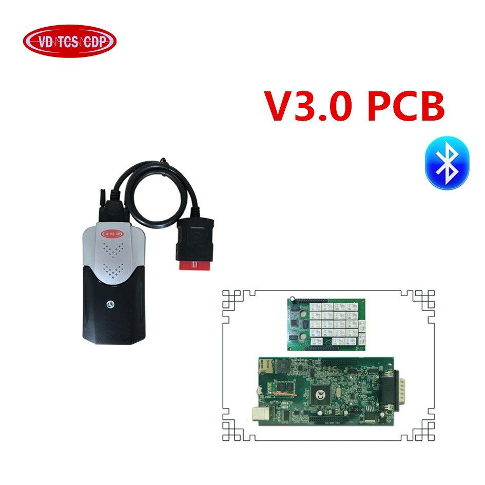 2015.3 with keygen/2016.0 free active v3.0 pcb green board 9241 chip for delphis vd ds150e cdp new vci Bluetooth for autocoms